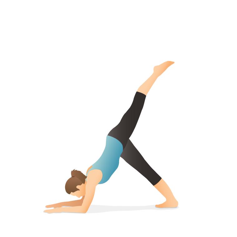یوگا - حرکت دلفین با یک پا