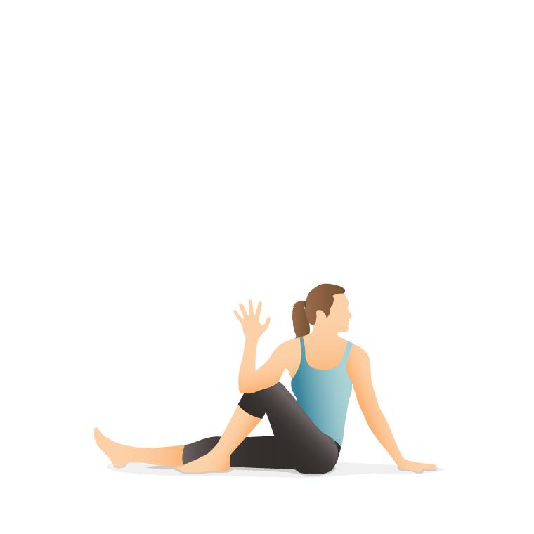 یوگا - حرکت  ماریچی آسانا 3